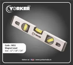 Spirit Level With Magnet Silver 12