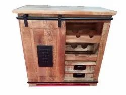 Brown Solid Wood Drawer Cabinet, For Home, Number Of Doors: 2