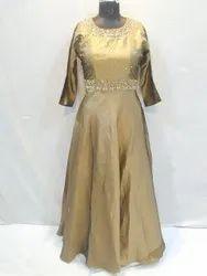 Women Party Wear Ladies Fancy Silk Gown
