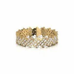 CDL Fineshine Women's Baguette and Round Diamond 1.17 CT Eternity Wedding Band Fine JEwelry, Weight: 2.86 Gram