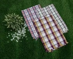 Mix Colors 100% Cotton Bath Checks Towel, For Bathroom, Size: 30 Inches X 60 Inches