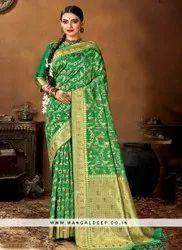 Partwear Banarasi Silk Saree