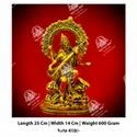 Golden Saraswati God Statue