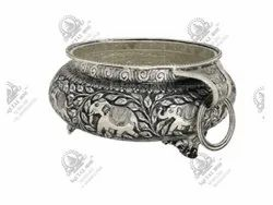 Home Round Silver Plated Artifacts