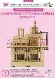 Down Packing Cotton Baling Press 9500 Model