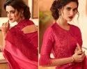 PURE FANCY FABRIC SAREE WITH BLOUSE