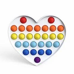 Pop It Fidget Toys,Push Pop Bubble Fidget Sensory Toy, Special Needs Silicone Stress Relief Toy