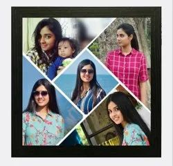 Brown Black Plastic Photo Frame, For Decoration, Size: 16x16inch