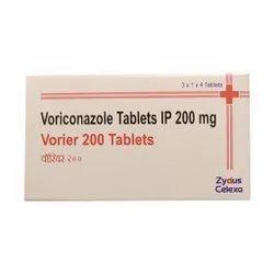 Vorier Voriconazole Tablet, 3 X 1 X 4 Tablets, Prescription