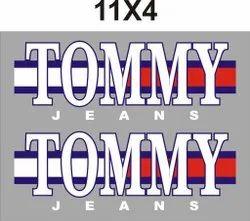 Heat Transfer Printed Garment Stickers