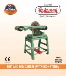Belt And Disc Sander With Iron Stand
