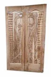 Exterior Teak Wood Double door, For Home, 6.75 X 3