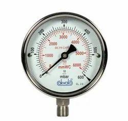Akwalo Stainless Steel Pressure Gauge