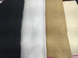 Cotton Chicken Panna Fabric, Plain/Solids, Black,White and Cream