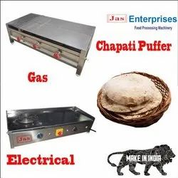 Stainless Steel Chapati Puffer For Restaurant