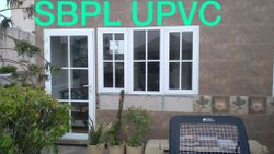 UPVC Door with Sliding Window