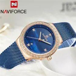 NF5005 Naviforce Date Function Mesh Analog Ladies Watch, For Formal