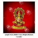 290 gm Metal Kala Golden Ganesha God Statue