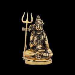 Gold Plated Lord Shiv Statue For Home Decor & Corporate Gift