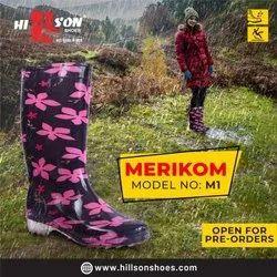 Rainwear Hillson Merikom Print Gumboots, Size: 36*40
