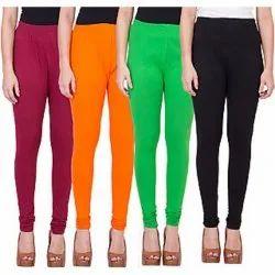 Churidar Ladies Plain Cotton Legging, Size: Medium