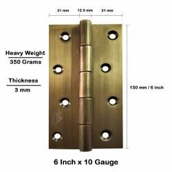 Atlantic Door Butt Hinges 6 inch x 10 Gauge/3 mm Thickness (Stainless Steel, Antique Finish)