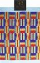 Viscose/rayon Woven Kente Fabric, Handwoven, Multicolour