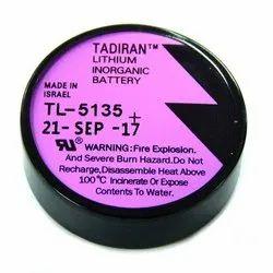 Tadiran TL 5135 Lithium Battery, Battery Capacity: 1700 Mah, Voltage: 3.6 V