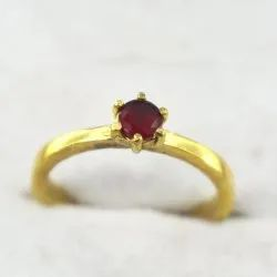 Cubic Zirconia Finger Ring Golden Silver Polished