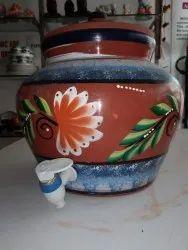 Mittikalaa Terracotta Clay Red Color Painting Matka