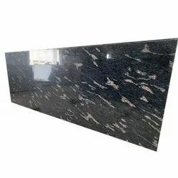 Polished Fish Black Granite Slab, For Flooring, Thickness: 18mm