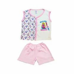 Sleeveless Front Open Top with Pant For Baby Boys
