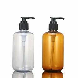 White Amber Shower Gel Packaging Bottle 200ml Pet Shampoo Handwash Bottle with Black Pump Spraye