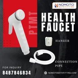 Nomoto Bathfitting White PTMT Health Faucet, For Bathroom