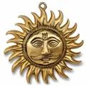 Metal Gold Plated Sun Wall Hanging