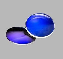 玻璃1.61蓝色切割HMC光学镜头,超常见,1.5mm