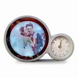 Magic Mirror Round Clock