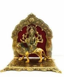 Gold Plated Maa Durga Statue For Home Decoration & Corporate Gift