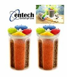 Plastic Circular 4 Section Storage Containers, Capacity: 2500 ml
