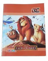 Perfect Bound White Disney Printed School Notebook