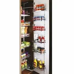 Slimline Flat Wood & Wire Pantry Unit Storage System (Cabinet Width 450mm 12 Baskets)- 6 Layer