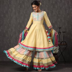 Designer Party Wear Sharara Salwar Suits