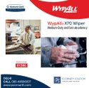 Wypall X70 Wipers / Flat Sheet / White / 25.4 Cm X 25.4 Cm, 1306