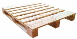 Rectangular Two Way Wooden Pallet, For Food Products, Capacity: 1 Ton