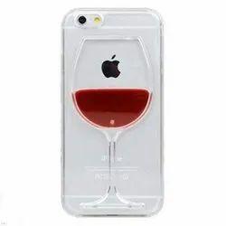iPhone Case with Liquid 3D Liquid Flow Wine Glass Design Glitter Back for Apple iPhone 6 Plus
