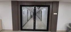 Hinged Plain Decorative Glass Door
