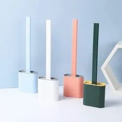 Silicone Flexible Toilet Brush With Holder