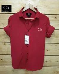 CK Lycra Mens Casual Wear Shirt, Size: M XL