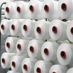 Pratik Textiles Semi-Dull White Polyester Yarn 150 TEX For Weaving And Knitting