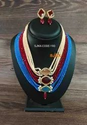 Party Artificial Designer Necklace Set For Women, Earring
